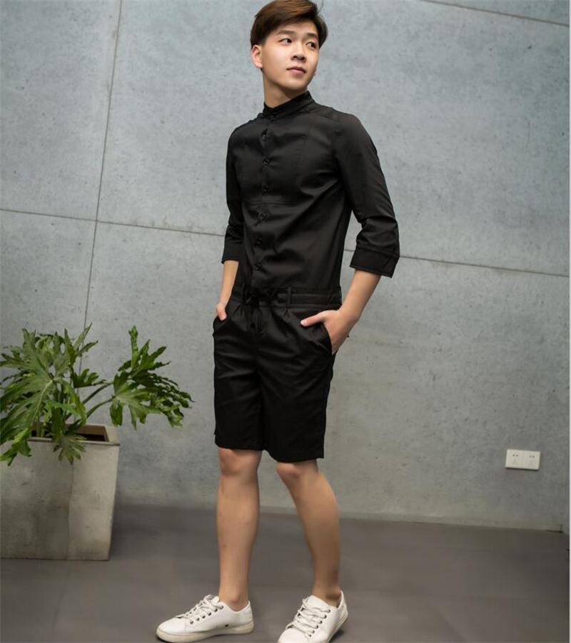 Сезон: весна-лето новый прилив мужские семиточечные рукава модные повседневное цельное платье для девочек, комбинезоны для девочек