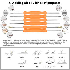 Image 5 - Handskit الرقمية لحام الحديد مفك مجموعة أدوات لحام الحديد الملقط سلك متجرد متعددة الوظائف أدوات لحام