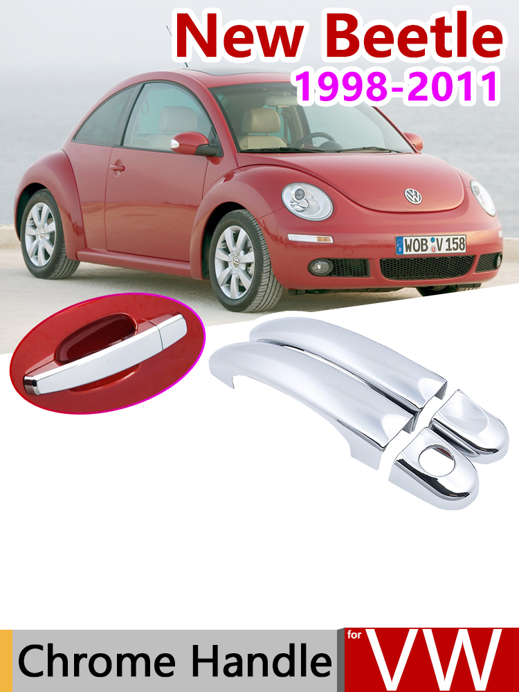 FOR 1998-2011 VW NEW BEETLE CHROME DOOR HANDLE OVERLAY COVER COVERS US SELLER@/_@