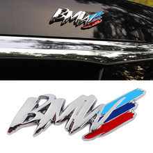 For BMW m3 m5 1 3 4 5 series x1 x3 x5 M car Styling China net modified fender side logo car sticker decoration accessories