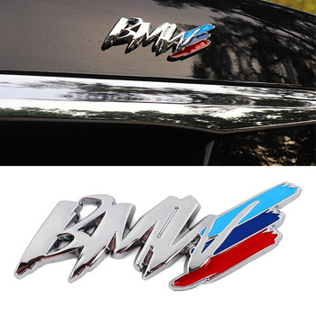 For BMW m3 m5 1 3 4 5 series x1 x3 x5 M car Styling China net modified fender side logo car sticker decoration accessories image