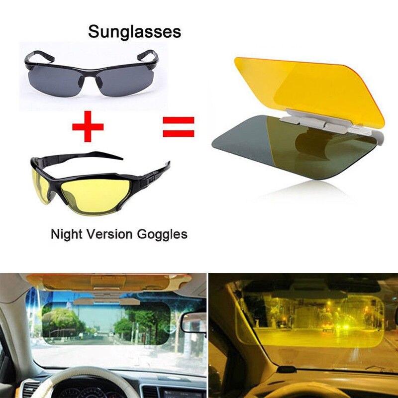 Viseiras de condução do espelho do sol da visão noturna do dia de hd da extensão da viseira do sol do anti-reflexo do carro