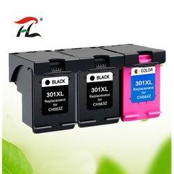 Kompatybilny 301XL wymiana wkładu z tuszem do hp 301 xl dla hp301 CH563EE CH564EE dla Deskje 1000 1050 2000 2050 2510 3000 3054