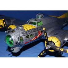 1:47 B-17G hava kale bombacı uçak DIY 3D kağıt inşaat bina oyuncak setleri 66cm Model uçak kartı modeli Mili v5U4