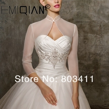 العرف الزفاف فستان الزفاف بوليرو سترة يلتف معطف