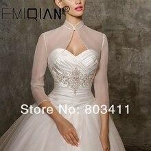 Robe de mariée sur mesure, boléro veste enveloppante manteau
