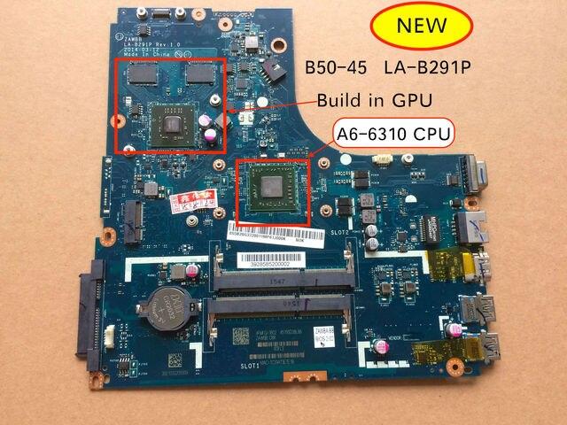 送料無料A6 6310 cpu zawbb LA B291P B50 45レノボB50 45ためのノートパソコンのマザーボード