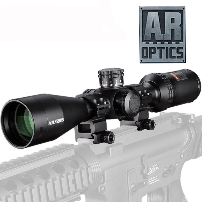 3-12X40 AR Optics Drop Zone-223 Reticle Tactical Riflescope With Target Turrets Hunting Scopes For Sniper Rifle image