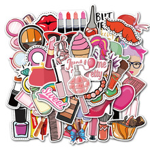 50Pcs Creative kawaii   cosmetic Beautiful Stickers Decorative Sticker Laptop Bicycle Helmet Car Decals