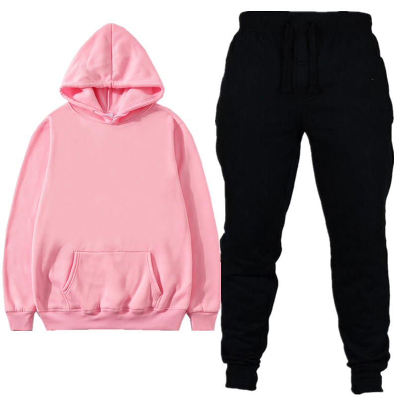 2019 NEW Tracksuit Men Sets Sportswear Tracksuits Sets Men's Hoodies+Pants Running Suits High Quality Cotton Tracksuit Women