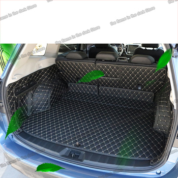 lsrtw2017 fiber leather car trunk mat for subaru forester 2019 2020 SK 2021 rear boot cargo liner luggage auto for subaru forester 2009 2012 car trunk mat element nlc4608b13