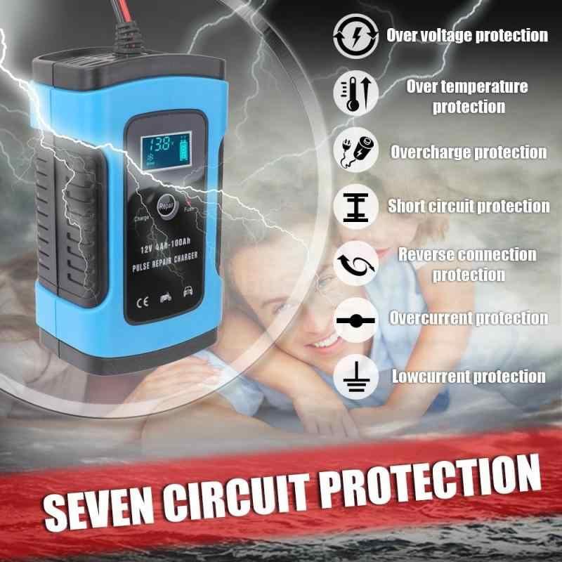 12 V 6A Màn Hình LCD Thông Minh Nhanh Ô Tô Pin Sạc Dành Cho Ô Tô Xe Máy Lead-Acid Pin Sạc Thông Minh 12 V volt 6 Một AMP
