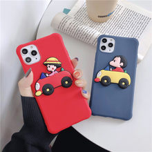 3D Cute Crayon Shinchan Phone Case For iPhone 6 6s7 8 Plus 11 Pro MAX X XS MAX Cases Cartoon Chibi Maruko Chan Soft TPU Cover(China)