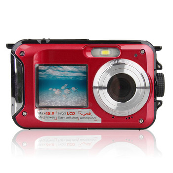 48MP Underwater Waterproof Digital Camera Dual Screen Video Camcorder Point and Shoots Digital Camera GK99