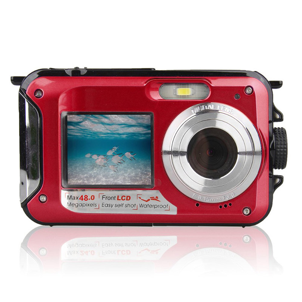48MP Underwater Waterproof Digital Camera Dual Screen Video Camcorder Point and Shoots Digital Camera GK99