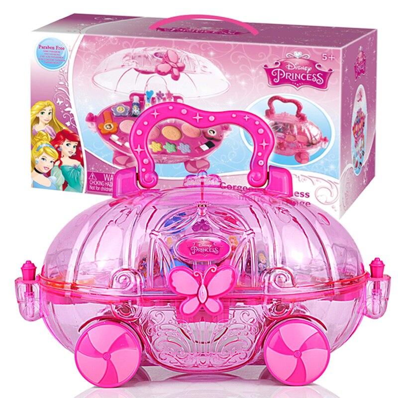 Disney princesa Frozen Girls maquillaje juegos de juguete Frozen princesa niños belleza moda jugar casa bebé maquillaje cosméticos juguete Hismith máquina de sexo adaptador sexo juguetes para adultos 4,5