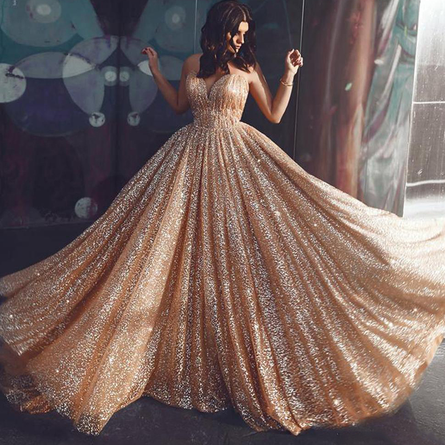 Bling Bling Tulle Spaghetti Straps Sexy   Prom     Dresses   Backless A-line Sweep Train vestidos de gala Shine Evening   Dress
