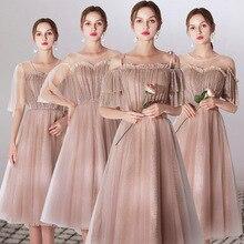 Bridesmaid Dresses Sparkling A-Line Wedding Party D