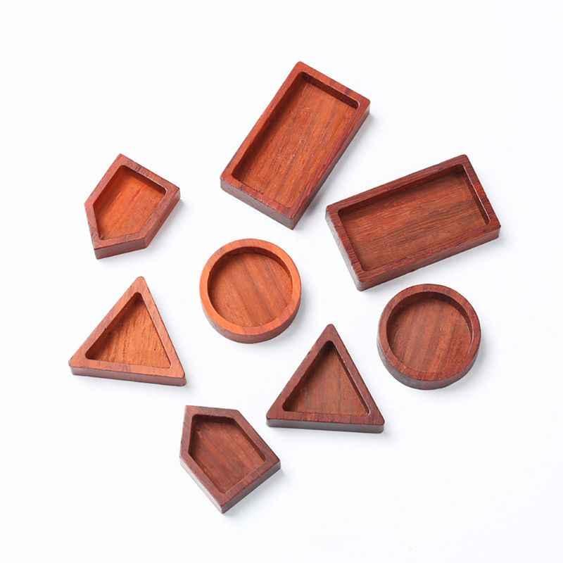Cabochão de madeira em branco redondo quadrado resina quadro pingente resina jóias fazendo