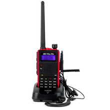 Retevis RT5 Walkie Talkie 7W 128CH Dual Band VHF UHF VOX FM Radio Scanner Amateur cb Ham Radio Communicator HF Transceiver