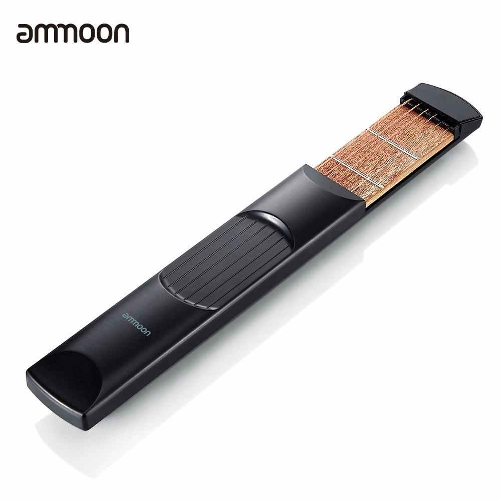 Ammoon портативный карманный Акустическая гитара практический инструмент гаджет