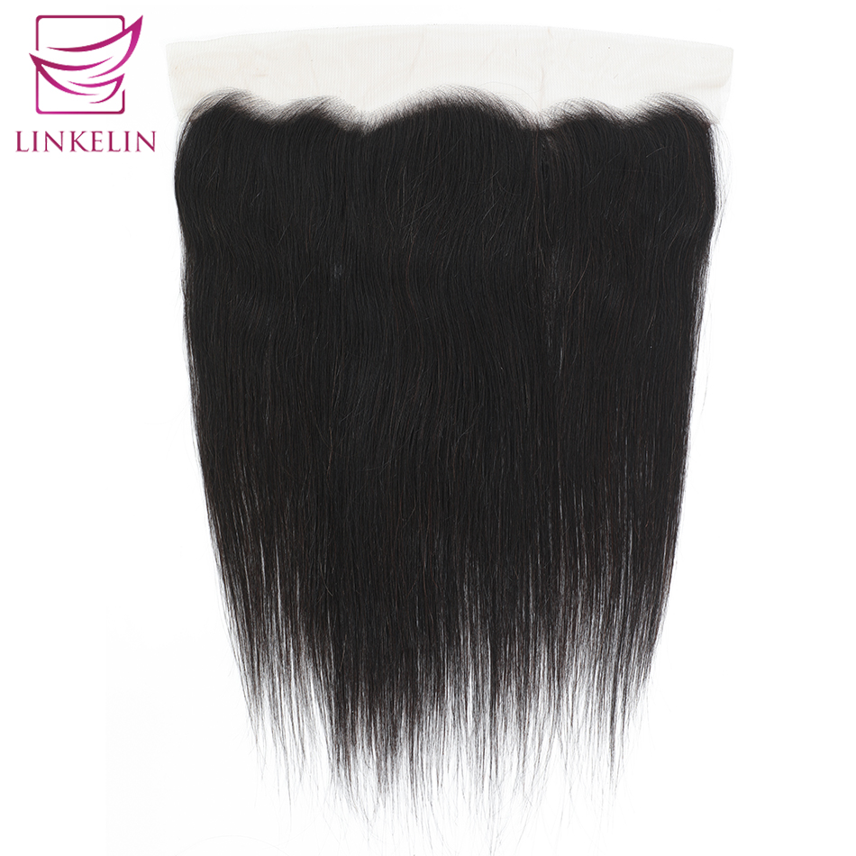 LINKELIN HAIR  Brazilian Straight Hair Frontal Lace Closure 13*4 Ear To Ear Closure 130% Destiny Remy Hair Free Shipping