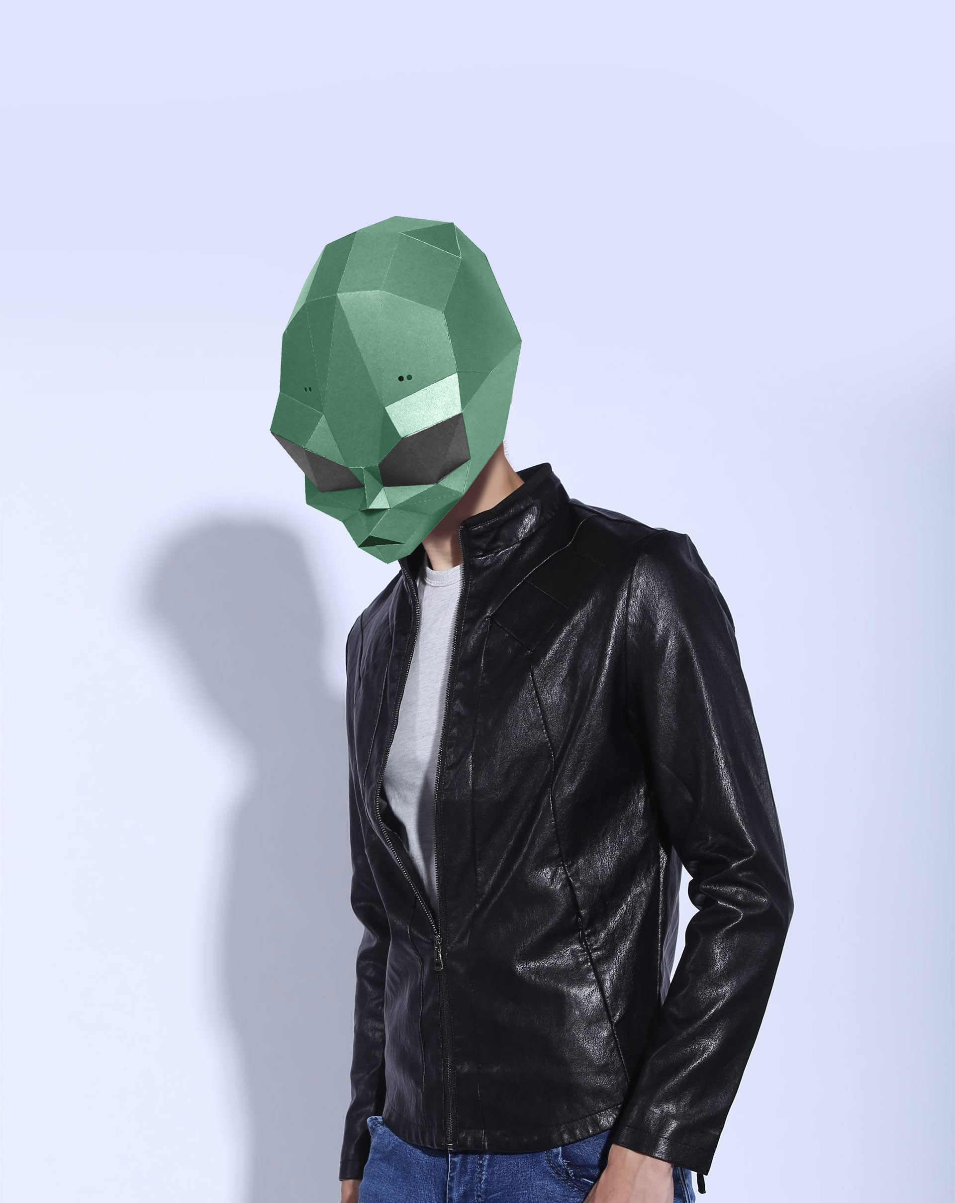 Paper Mask 3d ET Alien Costume Cosplay DIY Paper Craft Model Mask Christmas Halloween Prom Party Gift