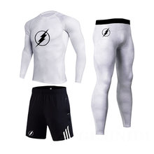 3 х частей Для мужчин комплексный тренировочный костюм: футболка
