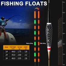 3PCS Fishing Floats Biting Induction Night Electronic Luminous Color Change Buoy KH889