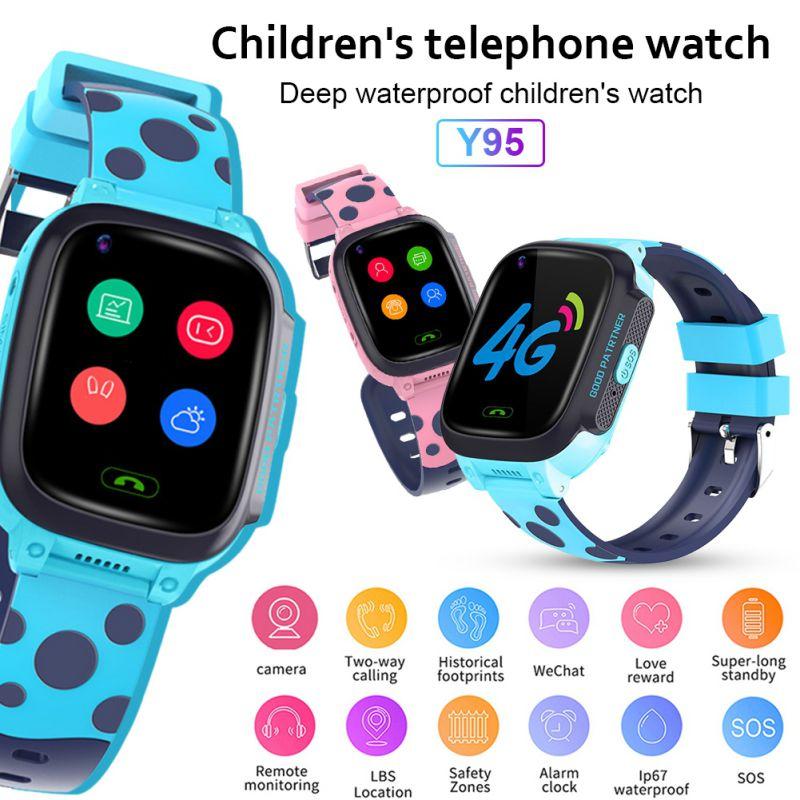 Y95 4G enfant montre intelligente téléphone GPS enfants montre intelligente étanche Wifi anti-perte SIM localisation Tracker Smartwatch HD appel vidéo