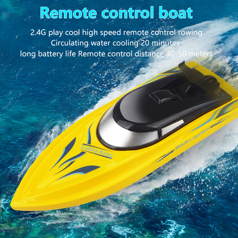 RC Boats Toy 2.4g Remote Control Boat Lasts 20 Minutes High Speed Rowing Summer Water Yacht Model Aircraft Toy Kids Xmas Gift