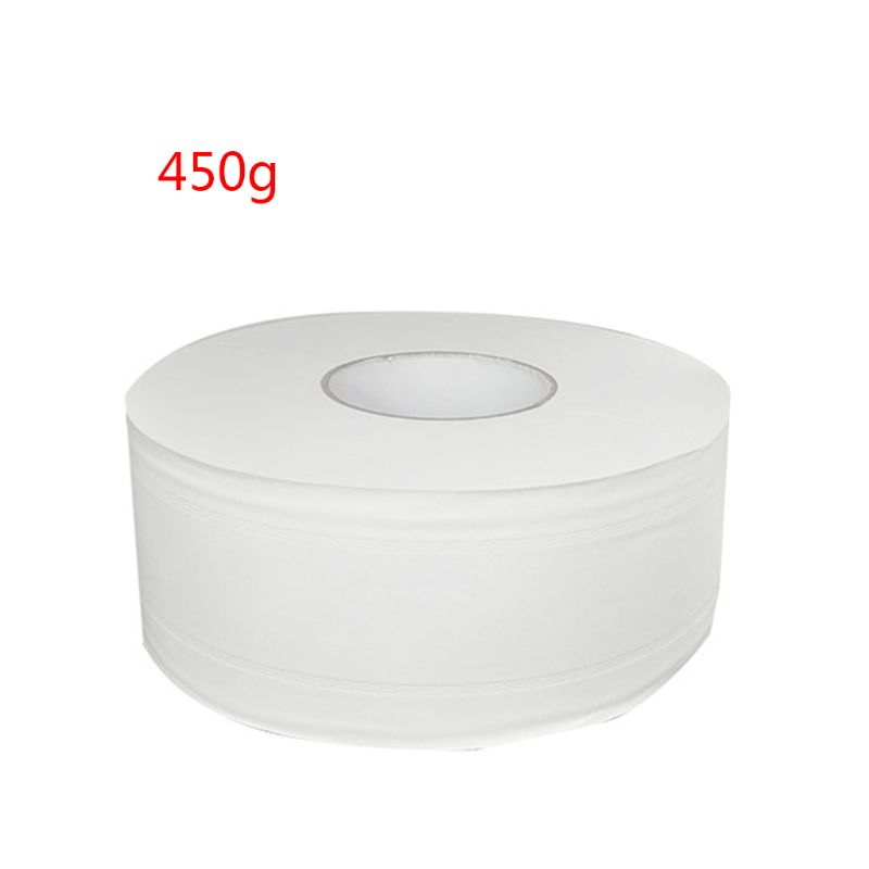 450g Thicken 4-Ply Large Toilet Roll Paper Embossed No Fluorescent Jumbo Bath Tissue Hotel House Hand Towel Napkin