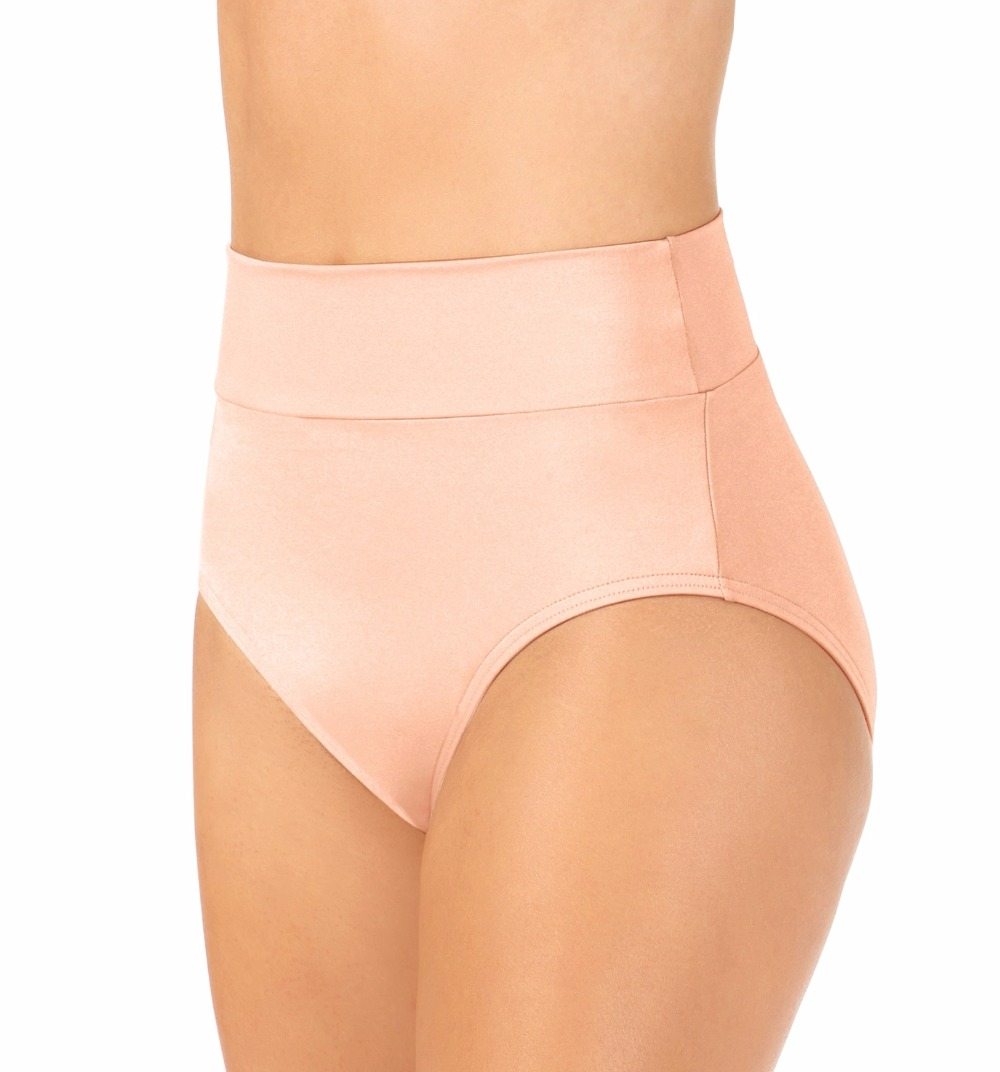 Adult Nylon Lycra High Waist Performance Shorts Jazz Women Black Spandex Dance Bottoms Sport Dancer Underpants