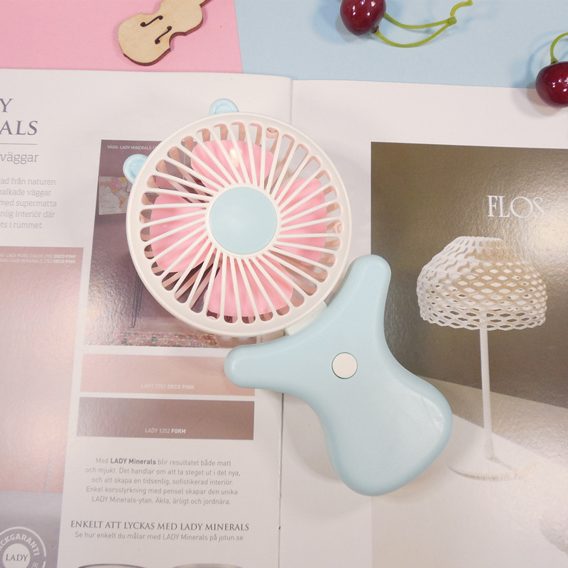 Portable Mini Fanhandheld Small Fan Cartoon Fruit Portable Mini Charging USB Portable