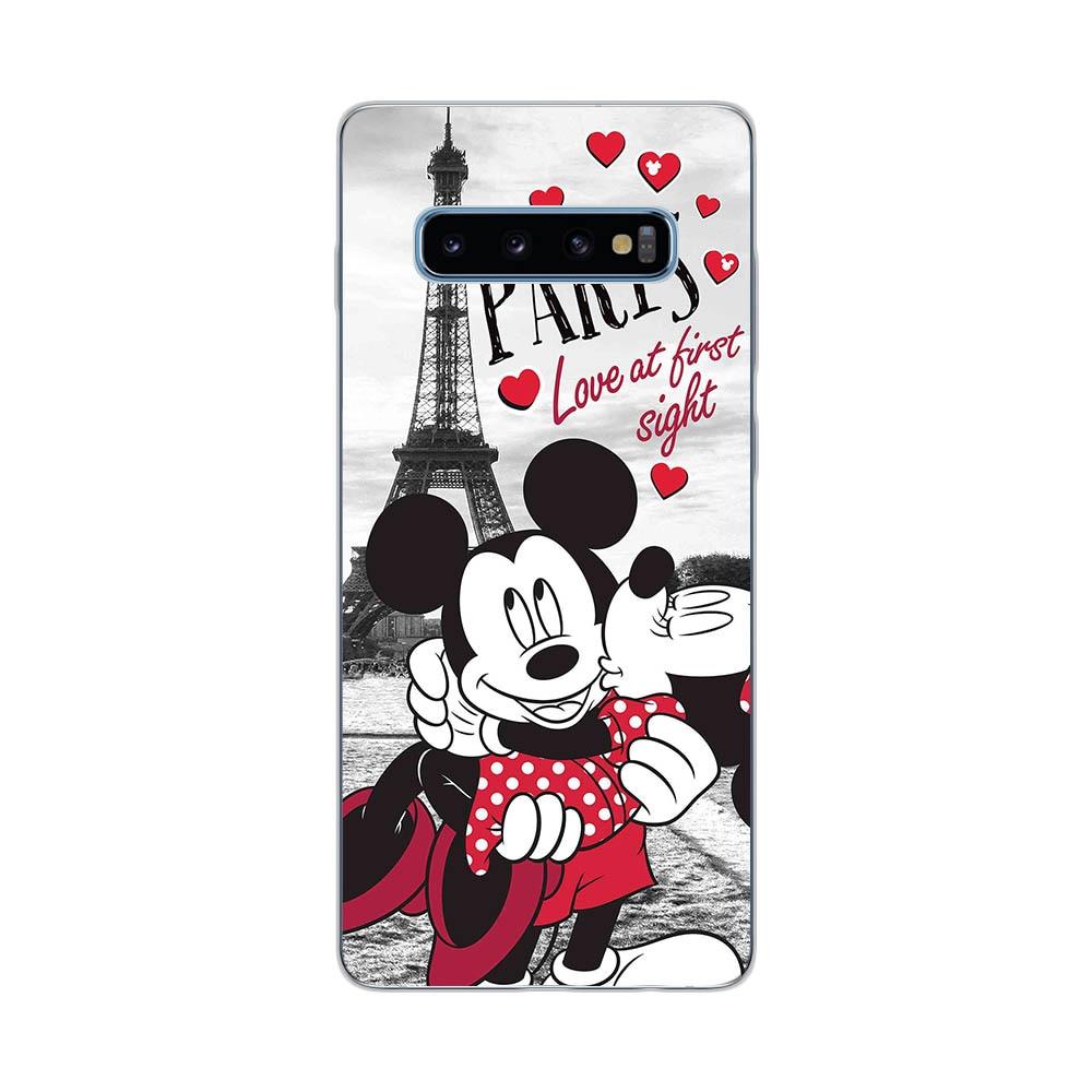 Cute Mickey Minnie Love Pattern Soft Silicone Case For Samsung Galaxy S7 Edge S8 S9 S10 S20 Plus S10E S105G S20 Ultr Cover Funda
