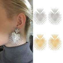 Fashion Big Exaggerated Drop Earring Women's Geometric Irregular Creative Party Jewelry Hanging Earrings недорого