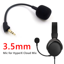 1pcs Replacement Game Mic 3.5mm Microphone Boom for Kingston HyperX Cloud Mix Gaming Headset Accessories