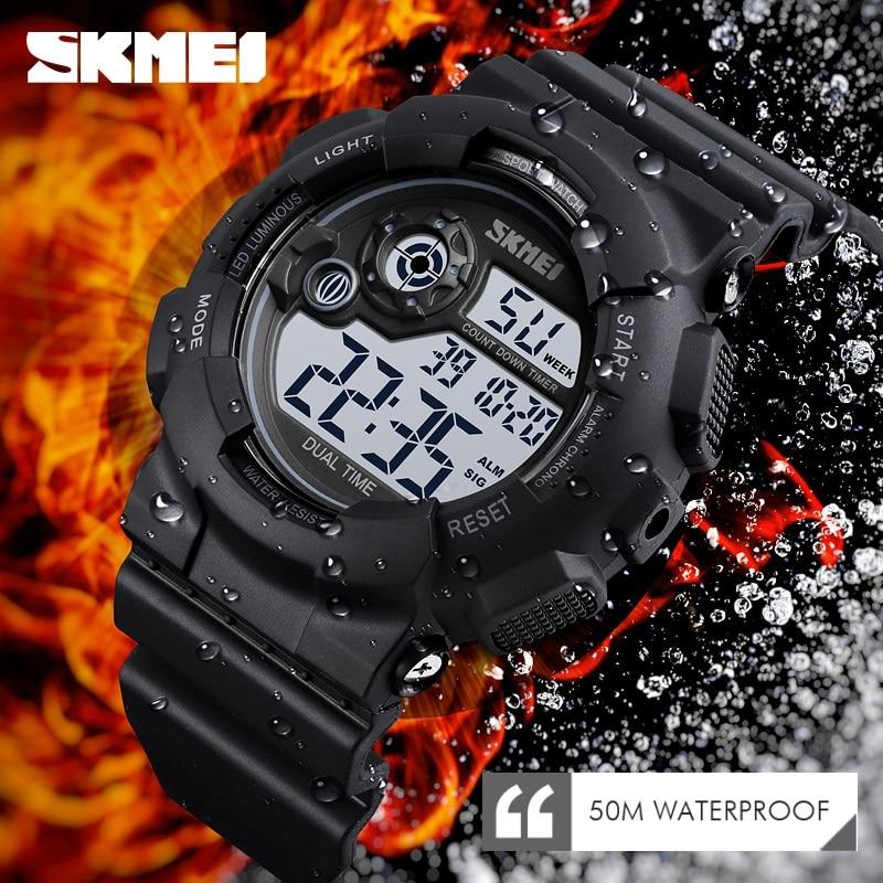 SKMEI Luxury Military Sports Watches Waterproof LED Men Digital Watch S Shock Outdoor Electronic Watch Men Relogios Masculino