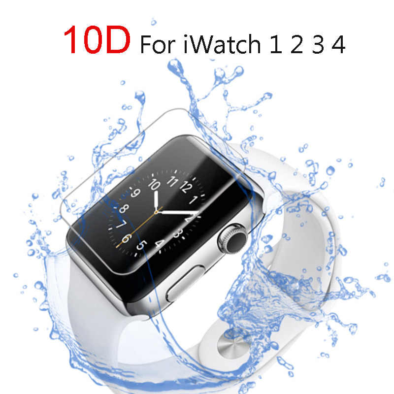 Pelindung Layar Jelas Cakupan Penuh Film Pelindung untuk IWatch 4 40MM 44MM Tidak Tempered Glass untuk Apple Watch 3 2 1 38MM 42MM
