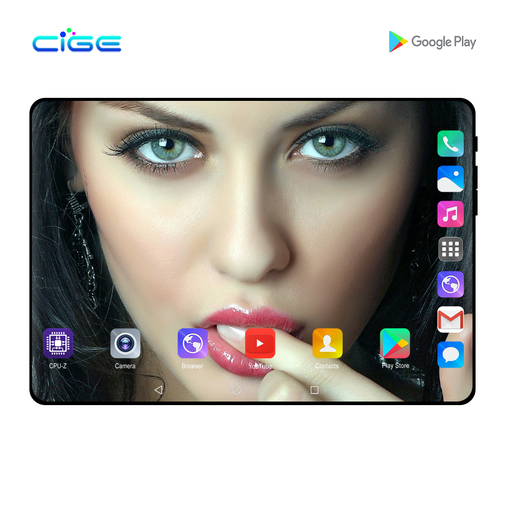 Mx960 The Tablet 10 Inch Octa Core Android 9.0 Tablets Kids Phablet 6G RAM 128GB ROM Dual SIM Card 4G Lte Phone Call 10.1 8 9