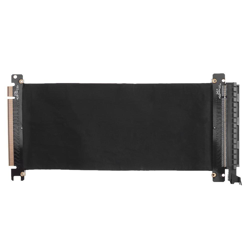 24cm pci express de alta velocidade 16x adaptador de porta de extensão de placa de cabo flexível riser placa de vídeo gráfica estender cabo para chassi