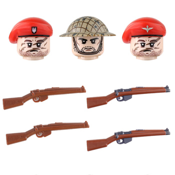 WW2 Soldiers British paratroopers Figures Weapon Building Blocks Airborne Division Weapons parts Bricks Toy For Children