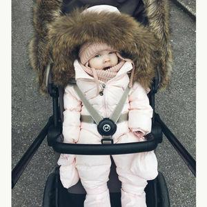 Image 5 - 2019 ฤดูหนาวหิมะหนาสวมเด็กวัยหัดเดินเด็กสาวฤดูหนาว Romper Hooded เด็ก Outwear Jumpsuit Coat เครื่องแต่งกาย