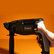 Rotary-Hammer Impact-Drill Electric 4-Functions DEKO 220V 26mm with BMC And 5pcs-Accessories