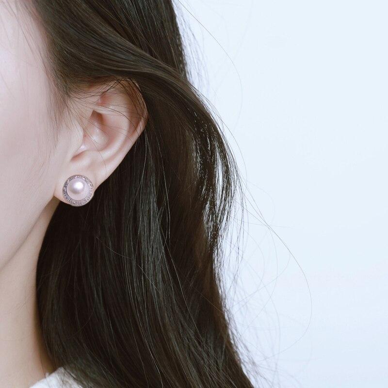 freshwater pearl earrings stud sterling silver real pearl stud earrings vintage