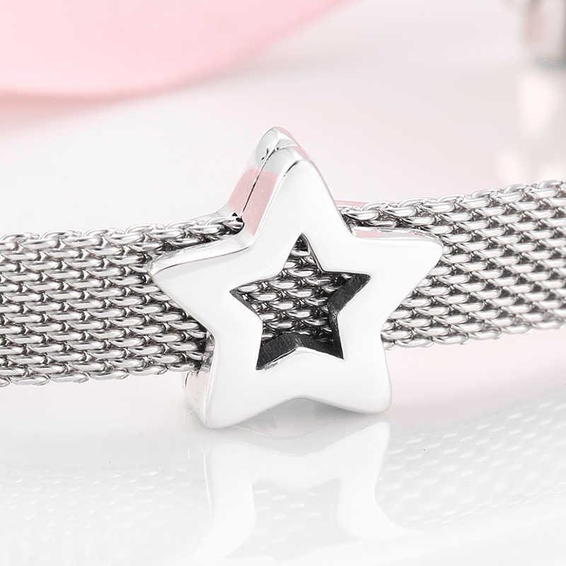 100% haute qualité 925 en argent Sterling beaux clips perles ajustement Original reflets Bracelet à breloques femmes fabrication de bijoux
