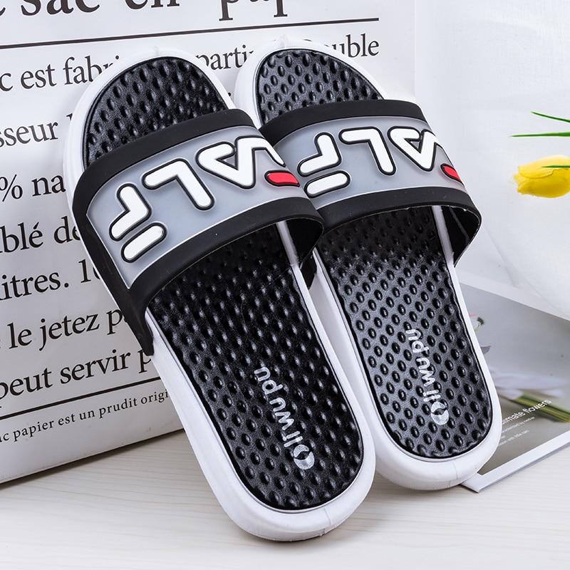 EMOSEWA New Summer Unisex Bathroom Slippers Brand Men Couple Beach Sandals Fashion Indoor Home Slippers Non-slip Floor Flip Flop