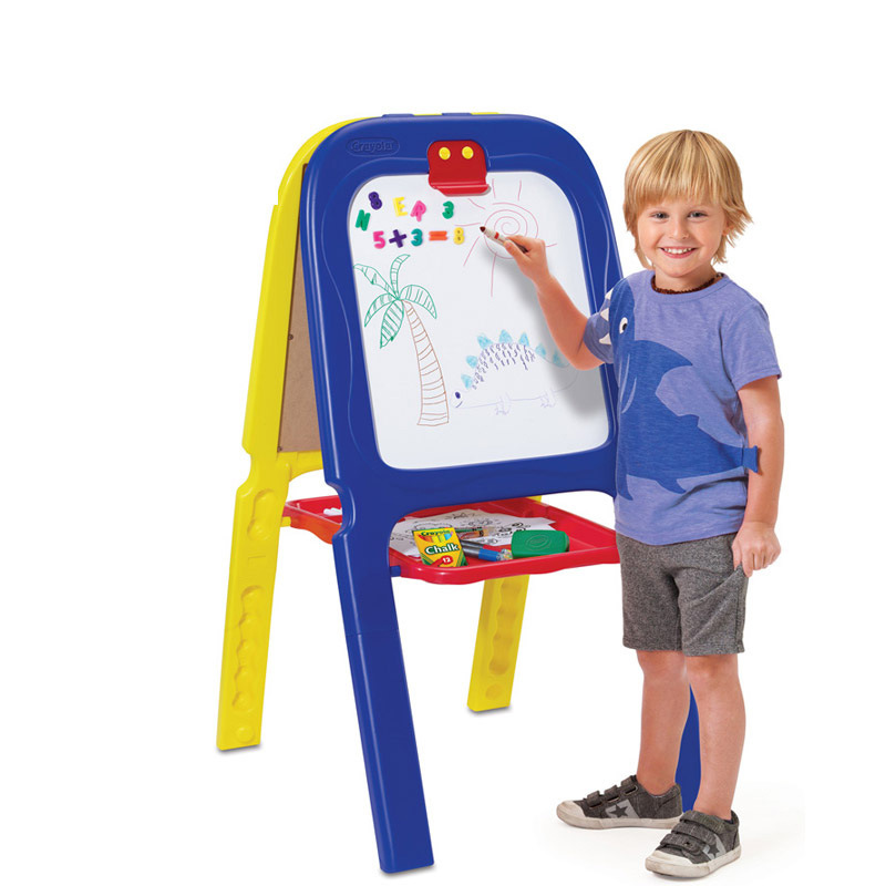 Crayola CHILDREN'S Drawing Board Magnetic Drawing Board Double-Sided Folding Easel Household Doodle Board 5047