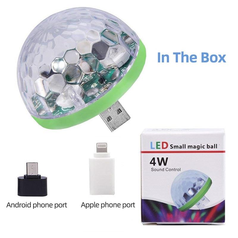 H2c578493576245858f9d4a6d88b992a5Q - Aimkeeg RGB Mini USB LED Party Lights Portable Sound Control Magic Ball 3W Mini Colorful DJ Magic Disco Stage Lights for Mobile