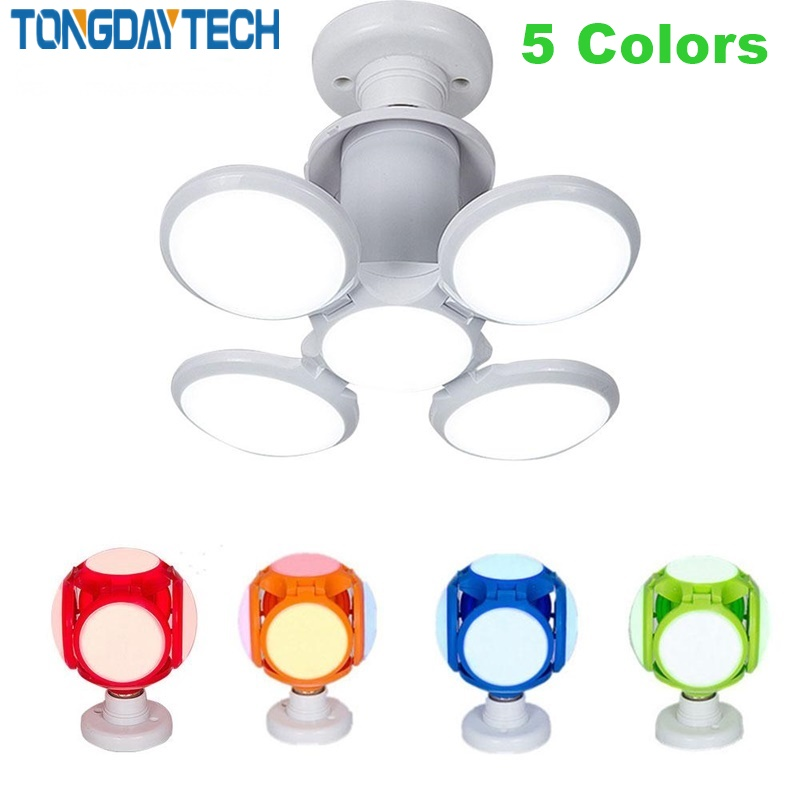 Tongdaytech New 40w <font><b>LED</b></font> <font><b>Bulb</b></font> Super Bright <font><b>LED</b></font> Football Lamp Indoor Lights E27 <font><b>LED</b></font> Light Folding UFO Lamp AC 85-265V image